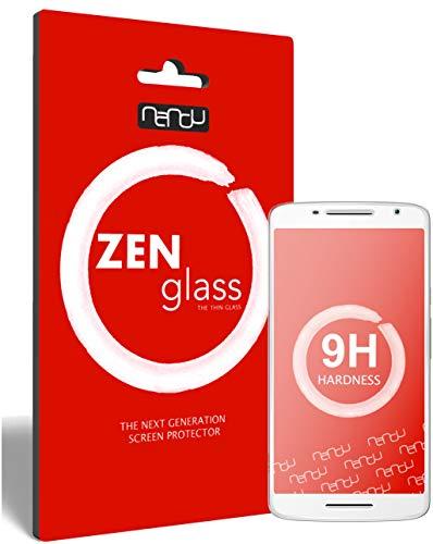 ZenGlass Flexible Glas-Folie kompatibel mit Motorola Moto X Play Panzerfolie I Bildschirm-Schutzfolie 9H I (Kleiner Als Das Gewölbte Bildschirm)