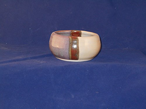 Pottery Purple and Grey Shaving Soap Bowl- Handmade in the USA, Beautiful Gift!