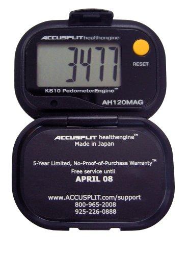 ACCUSPLIT Health Engine AH120MAG Pedometer/Step Counter with Magnum Display