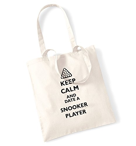 Keep calm and date a snooker player tote bag