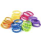 TALINU catena colorata per passeggino da 24 pezzi - catena sonaglio, catena giocattolo, catenella da passeggino, giocattolo per carrozzina