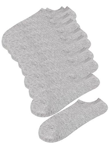 Sourcingmap Pure Motif Mélanges De Coton Coupe Basse Hommes Athlétique Chausettes 5 Paires Gris - Gris, Femme, Taille Unique