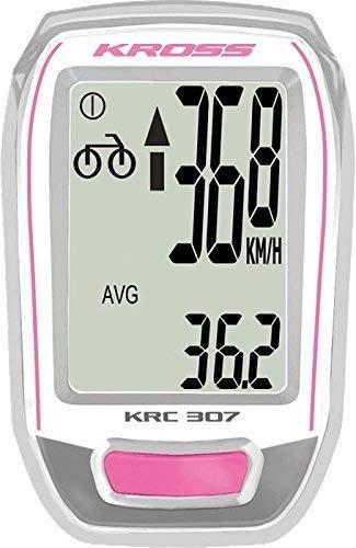 New Kross KRC 307Fahrrad, Rider Computer für Fahrräder, Pink/Weiß, rosa / weiß