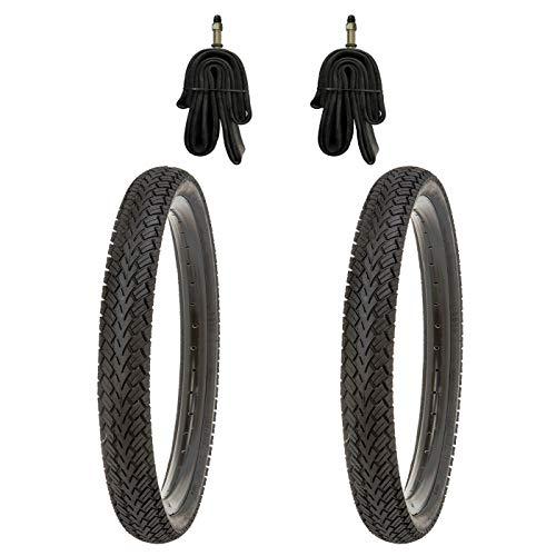 Kujo 2X 16 Zoll Reifen 16x1.75 Zoll inkl. Schläuche mit Dunlopventilen 40mm