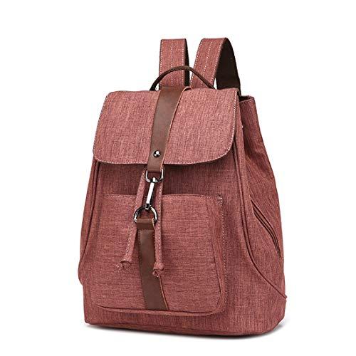 TEYUN El diseño es Ligero y cómodo con el Anillo de la Hebilla de la Cuerda Empate Doble Seguro Mochila pequeña (Color : Brown)