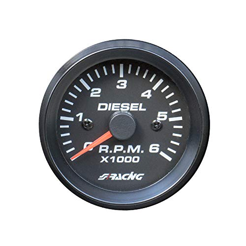 Simoni Racing TM/BD stappenteller 0-6000 RPM voor dieselvoertuigen, zwart