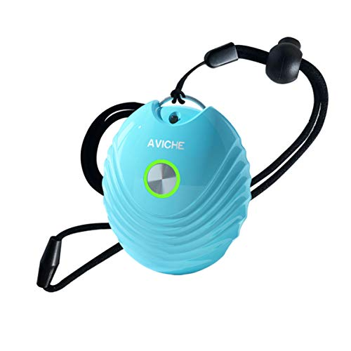 Aviche Personal Air Purifier | Rechargeable and Portable Necklace Negative Ion Generator | Purifies Air Eliminating Germs, Dust, Viruses, Bacteria, Allergens, Mold, Odors, and More | Blue Shell design