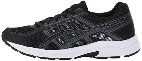ASICS Women's Gel-Contend 4 Running Shoe, Black/Black/Carbon, 6.5 W US