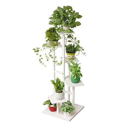 Supporto per piante in legno,mensola portavaso multiplo per fioriera da esterno per interni...