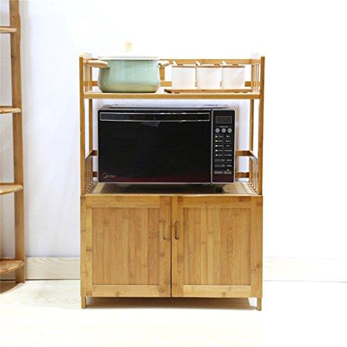 AIDELAI Scaffalature Forno a microonde Rack Kitchen Shelf Landing Spatola Armadietti Bamboo Gabinetto Mensola Multifunzione (Dimensioni : 84.5cm)