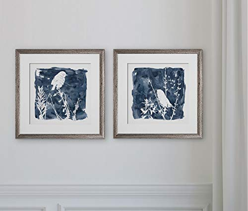 WEXFORD HOME Indigo Bird -2 Piece Set Art Print, 16X16