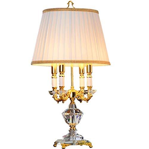 SPNEC Lámpara de Mesa de Cristal de Lujo, Decorativo sofá de la Sala Mesa de café Dormitorio de la lámpara de Noche Estilo Simple lámpara Ocio