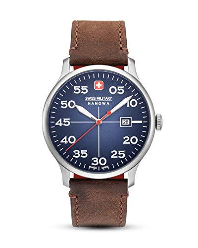 Swiss Military Reloj Analógico para Hombre de Cuarzo con Correa en Cuero 06-4326.04.003