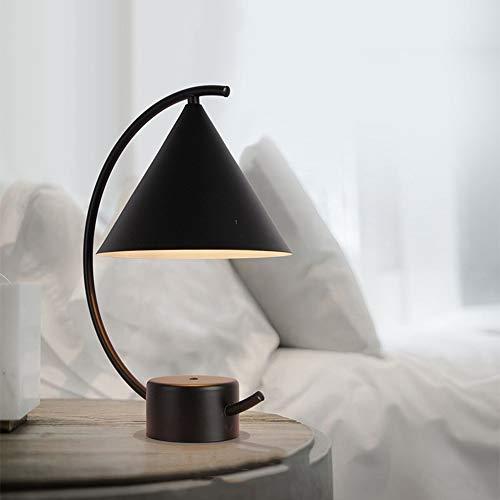 MGWA Lámpara de Mesa Lámpara De Mesa Negra LED 29 * 38 Cm Escritorio Sala De Estar Dormitorio Estudio Luz De Lectura Moderna Minimalista Personalidad Creativa Simple