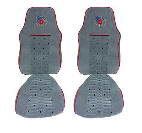 Fundas de asiento de terciopelo suave de alta calidad en color gris