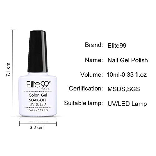 Elite99 Esmaltes Semipermanentes de Uñas en Gel UV LED, 6pcs Kit de Esmaltes de Uñas 10ml 008