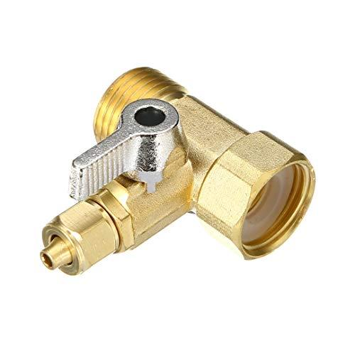 """XCQ Wasseradapter 1/2""""bis 1/4"""" Wasserhahn Wasserfilter Kugelhahn Umkehung Osmosesystem Ventilhahn für Home Hardware langlebig 0614"""