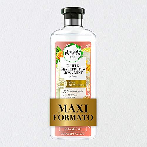 Herbal Essences Shampoo Pompelmo Bianco e Menta Mosa, Dona Volume e iIratazione, in Collaborazione con Giardini Botanici Reali di Kew, 400 ml