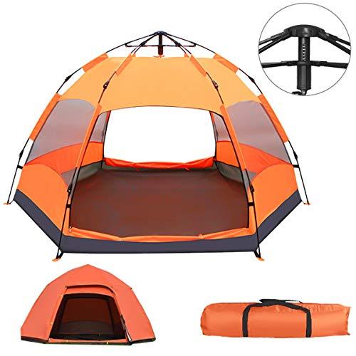 テントワンタッチ 【 3-4人 BBQ 二重層 】キャンプテント 収納バッグ付き アウトドア