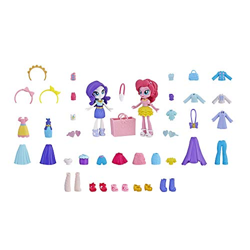 My Little Pony Equestria Girls Fashion Squad Rarity & Pinkie Pie Mini Doll Set with 40+ Accessories