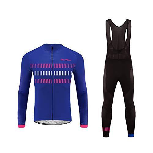 Uglyfrog Abbigliamento Ciclismo Uomo Asciugatura Veloce Maglia Manica +Long Pantaloni Abbigliamento da Ciclismo Abbigliamento Sportivo da Equitazione Primavera/Autunno Style