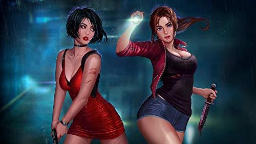Resident Evil 2: Remake Puzzle De 1000 Piezas Para Adultos Niños   Juegos Intelectuales Educativos   Madera   Aliviar Estrés   Juegos Para Familias   75 * 50 Cm Regalo De Año Nuevo
