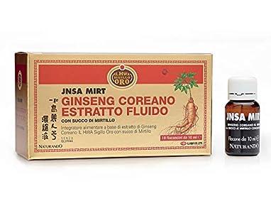 Naturando - Jnsa Mirt (10 viales 10 ml) - Complemento Alimenticio A Base De Ginseng Il Hwa Sello Oro y Jugo De Arándanos