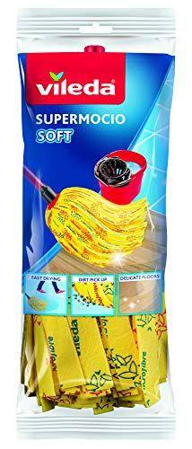 Vileda VIL128263 Recharge Soft pour Balai à Franges Supermocio Multicolore