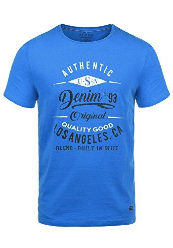 Blend Doppler Herren T-Shirt Kurzarm Shirt Mit Print Und Rundhalsausschnitt Aus 100{3bd58b13ea6f49cc300ac03e92d5af40e232ae46c98e92bfd17032d16f9f87f7} Baumwolle, Größe:M, Farbe:Nautical Blue (74632)