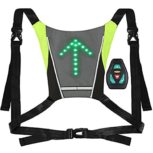 Lixada USB Reflektierende Weste mit LED Blinker Licht Fernbedienung für Radfahren Laufen Jogging …