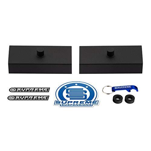 Supreme Suspensions - Rear Leveling Kit for 2001-2010 GMC Sierra 1500HD and 2000-2010 GMC Sierra 2500HD 3500HD 1' Rear Lift Blocks 8-Lug 2WD 4WD
