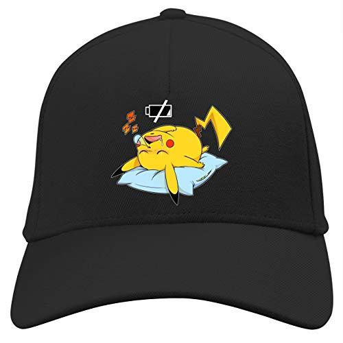 OKIWOKI Pokémon Lustiges Schwarz Kappe - Pikachu (Pokémon Parodie) (Ref:859)