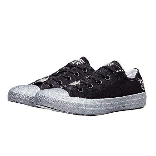 Converse Chuck Taylor All-Star Ox Miley Cyrus Black Silver