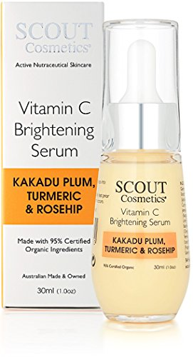 SCOUT Cosmetica Vitamine C Verhelderend Gezichtsserum Met Kakadu Pruim, Kurkuma & Rozenbottel