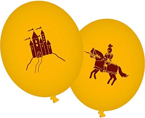 DH-Konzept 8 Luftballons * Drache UND Ritter * für Party und Geburtstag // Kindergeburtstag Mottoparty Ballon Ballons Kreuzritter Mittelalter
