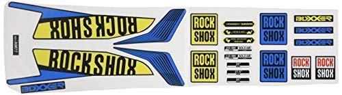 Ecoshirt 05-TTO3-GFXN Aufkleber Fork Rock Shox Boxxer World Cup 2016 Am77 Aufkleber Sticker Gabel Blau Gelb Blau