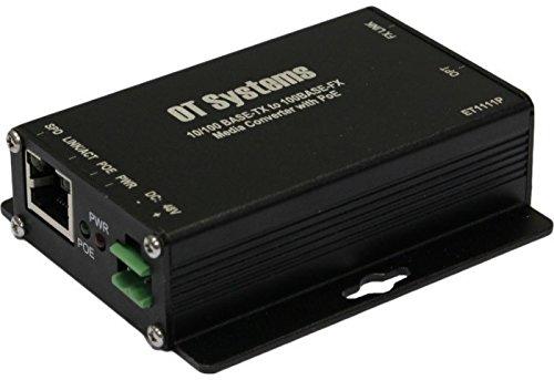 ET1111P-A, media-converter, 1 poort, multimode, 2-vezels, micro, PoE, 10/100BaseTX/100BaseFX, SC