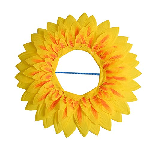 Sunflower Headgear,Funny Performance Props Hat Hood for Dance Party Festival Games Kids Teens Adults