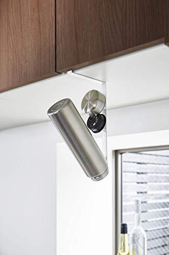 「タワー」らしいシンプルでコンパクトなデザインの水切りラックです。吊戸棚に差し込むようにしてセットして使うので、狭いキッチンでも場所を取りません。水筒の中栓や蓋も一緒に乾かせて便利です。