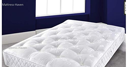 Mattress-Haven Quality Sprung Mattress with Memory Foam Top - Bonnell Springs, Orthopaedic Comfort,4FT - Small double