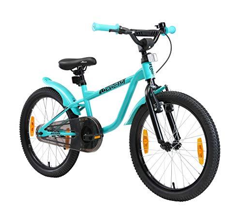 LÖWENRAD Kinderfahrrad für Jungen und Mädchen ab 6 Jahre   20 Zoll Kinderrad mit Bremse   Fahrrad für Kinder   Mint
