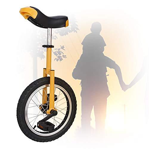 GAOYUY Monociclo da Allenamento, Telaio in Acciaio da 16/18/20 Pollici Forte E Robusto Monociclo Freestyle Professionale Unisex per Principianti (Color : Yellow, Size : 18 inch)