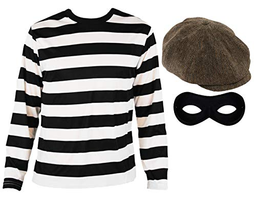 I LOVE FANCY DRESS LTD Disfraz DE LADRÓN Conjunto TEMATICO Gorra Marron para Adultos(XL)