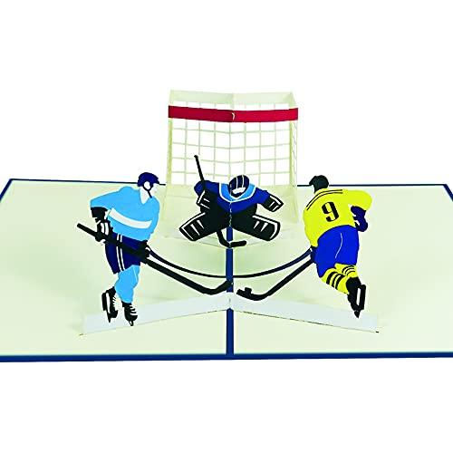 Pop Up Karte Hockey Geburtstagskarte Grußkarte Glückwunschkarte Sport Hobby - Eishockey 030