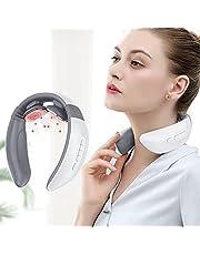 Masajeador Cervical, Masajeador Cervical y Espalda Eléctrico con Función de Calentamiento, 6 Modos Multifuncionales Fisioterapia Electromagnética Profunda