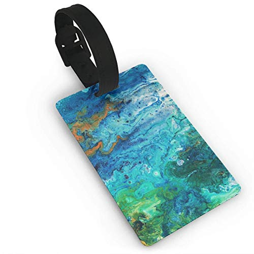 Colorful Smoke Luggage Tag Travel ID Identifier Labels Set for Bags Baggage PVC Size 3.7 X 2.2 Inches