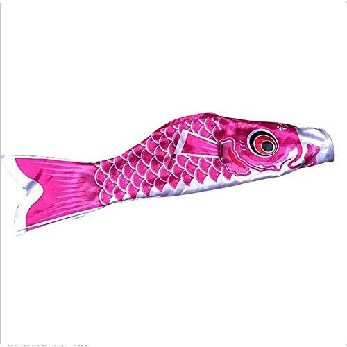 CamKpell Neue 5 Farben 55 cm wasserdichte Japanische Karpfen Windsack Streamer Hängen Fisch Flagge Decor Kite Koinobori Für Kinder-Rot-1 Größe