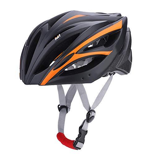 Keenso Fahrradhelm, 4 Farben Outdoor Unisex Atmungsaktiv Leichte Erwachsene Fahrradhelm Fahrradhelm Skating Kletterhelm(Schwarz + Orange)