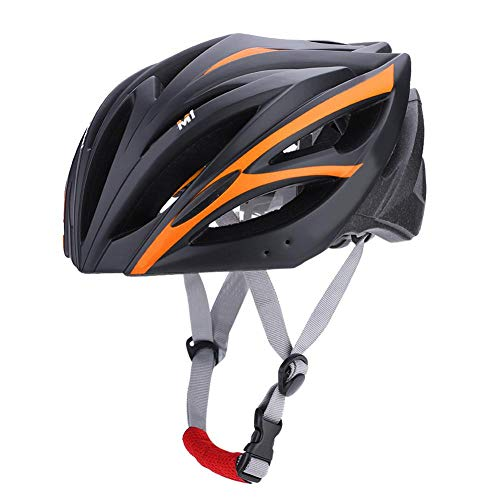 Keenso Casco de Ciclismo, Casco Ajustable de Verano para Montar/Escalar(Negro y Naranja)