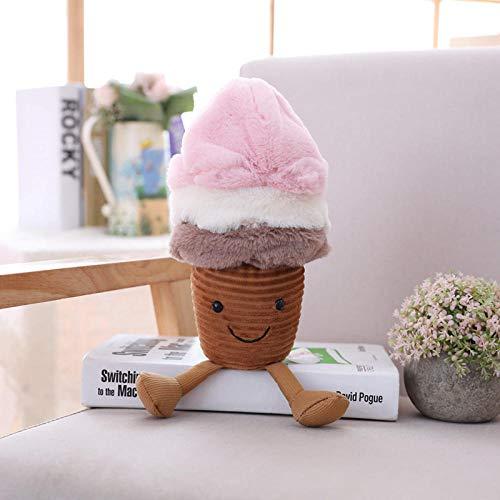 Sobneqce アボカドフルーツかわいいキノコ/アイスクリームぬいぐるみおもちゃぬいぐるみ子供子供のための子供のためのクッションの枕クリスマスプレゼント女の子女の子の女の子 かわいいぬいぐるみ (Color : 1)